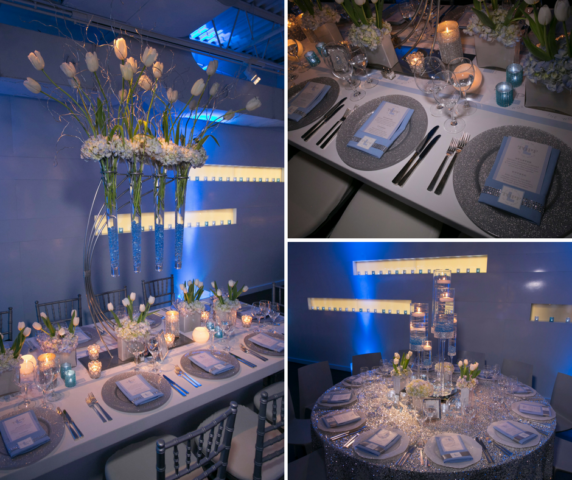 bat mitzvah table decor